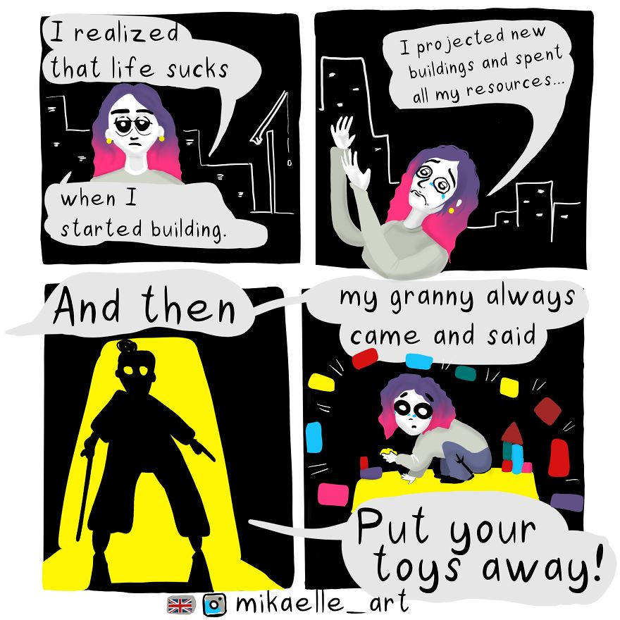 This Comics Was Drawn In Deep Depression