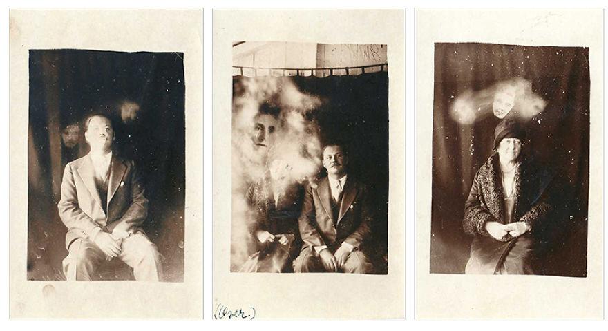3 Spirit Photographs Circa 1920 By William Hope (1863 – 1933)
