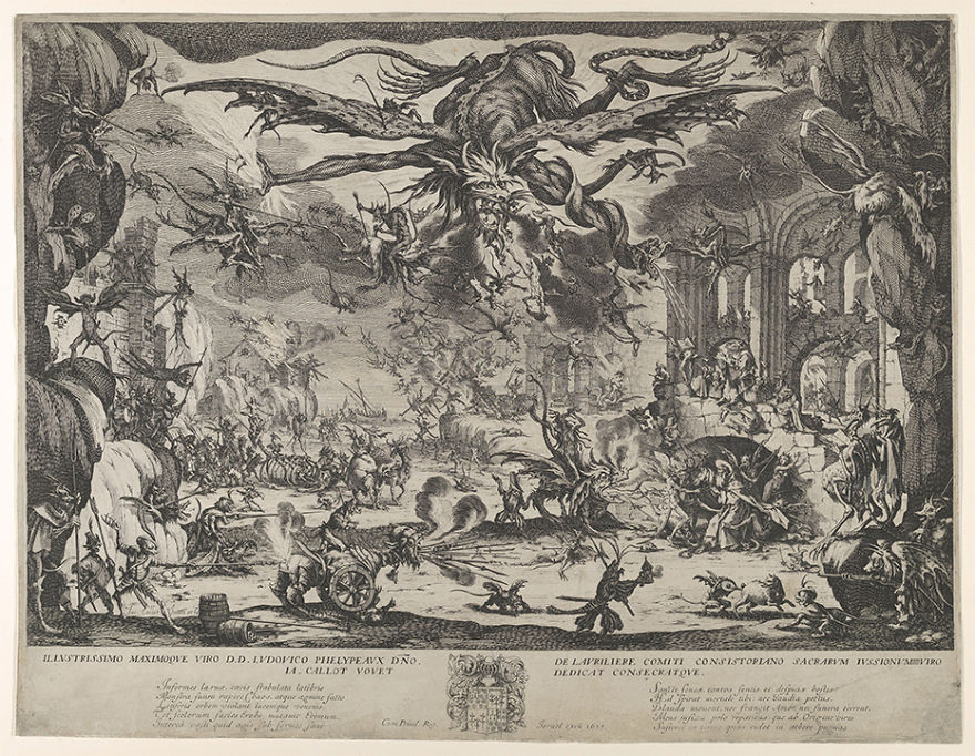 Jacques Callot (1592-1635) The Temptation Of St. Anthony, 1635