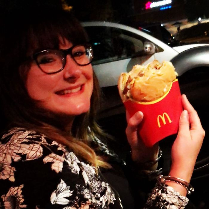 Eating A Big Mac (Or Any Burger, Really) Inside Of A Fries Container Ensures That Any Slippage Will Be Successfully Caught