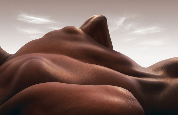 Photographer Forms Landscapes Using Just Human Bodies And The Result Looks Majestic (13 Pics)