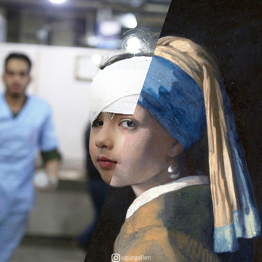 Wounded Girl With A Pearl Earring