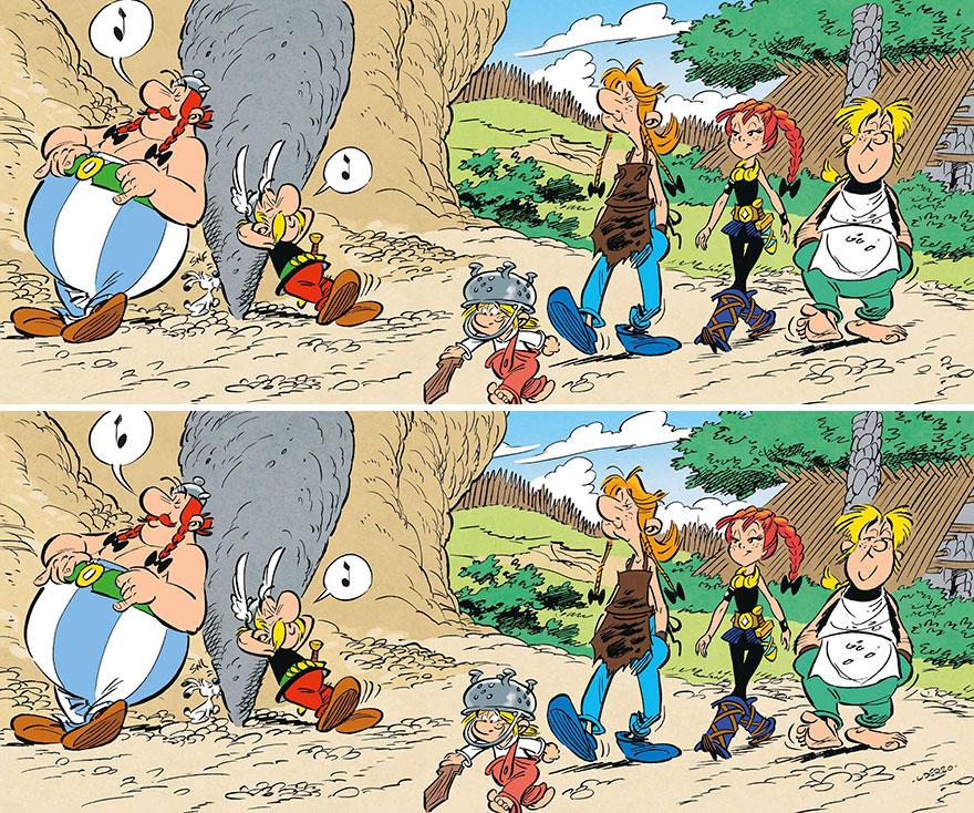 """Asterix & Obelix"" (11 Differences)"