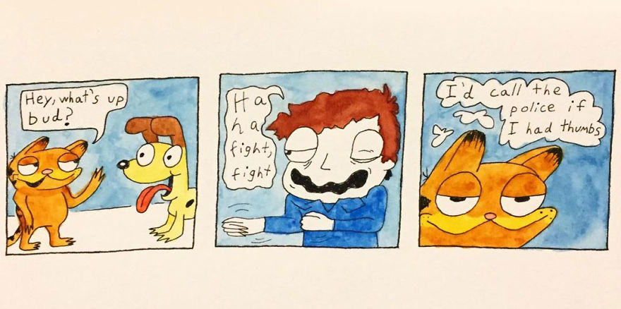 I Make Silly Watercolor Comics (Very Cool) (17 Pics)