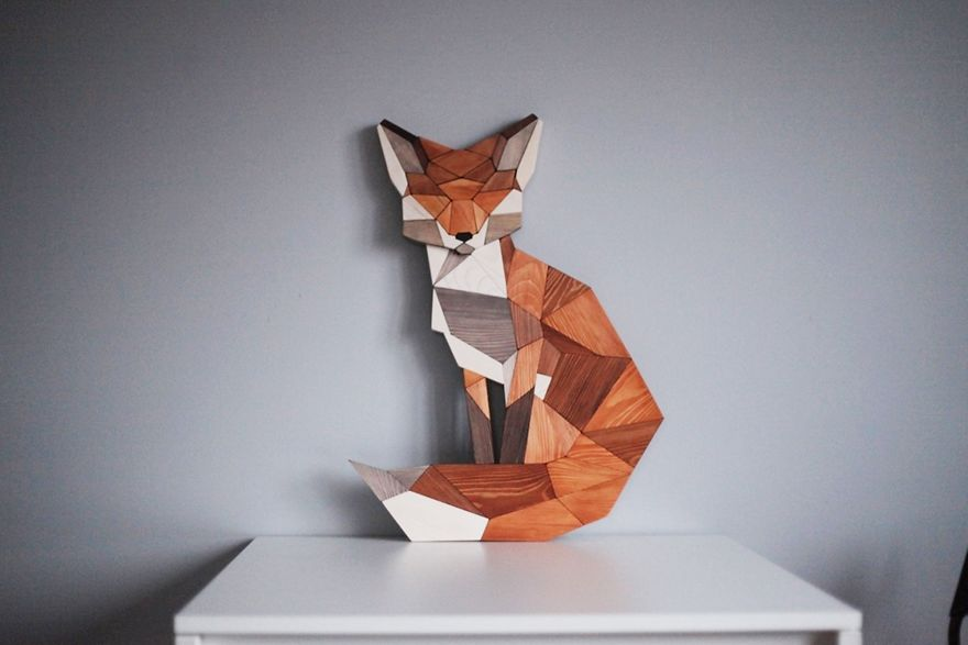 I Made A Wooden Fox Based On Grandfather's Sketch