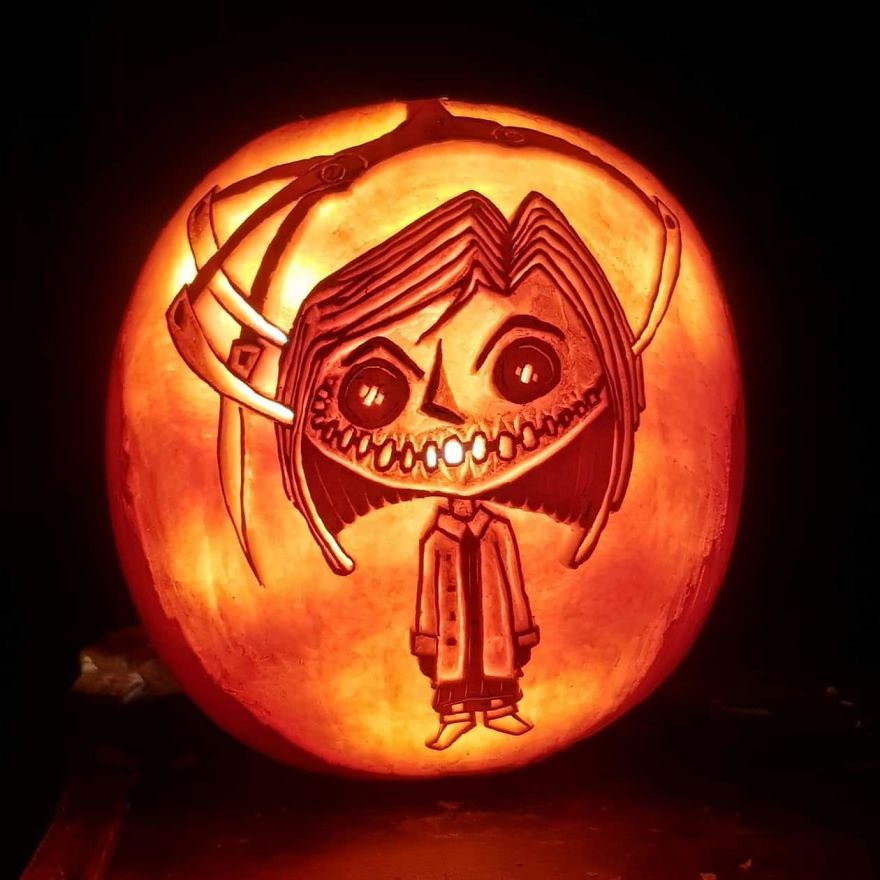 Here Are My 29 Pumpkin Carvings That Look Like Horror Scene Characters Bored Panda