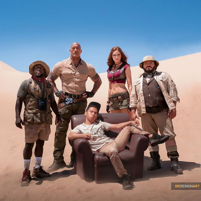 """Doing adventures with """"The Rock"""" in Jumanji"""