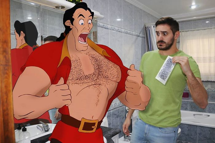 Guy Edits Disney Characters Into His Photos And The Result Looks Like They're Having A Blast (30 Pics)