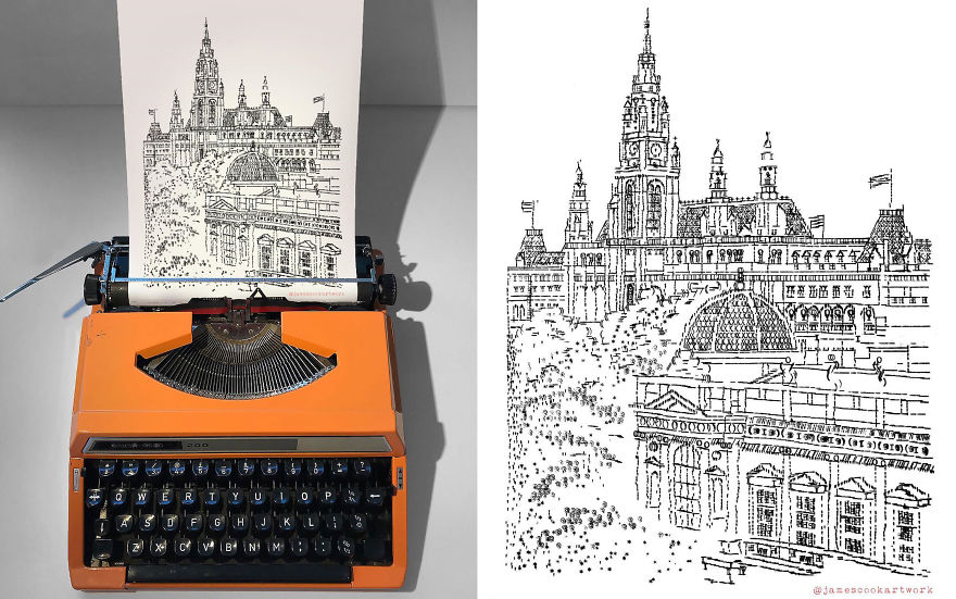 This Young Artist Makes Amazing Drawings With A Typewriter