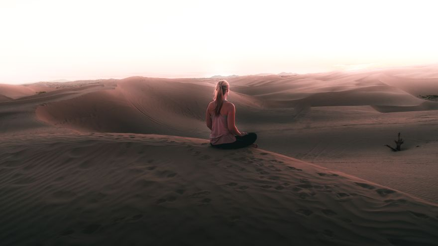 Sunset Desert Yoga