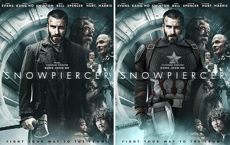 Captain America In Snowpiercer