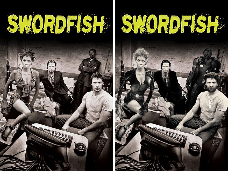 Storm, Vincent Vega, War Machine And Wolverine In Swordfish