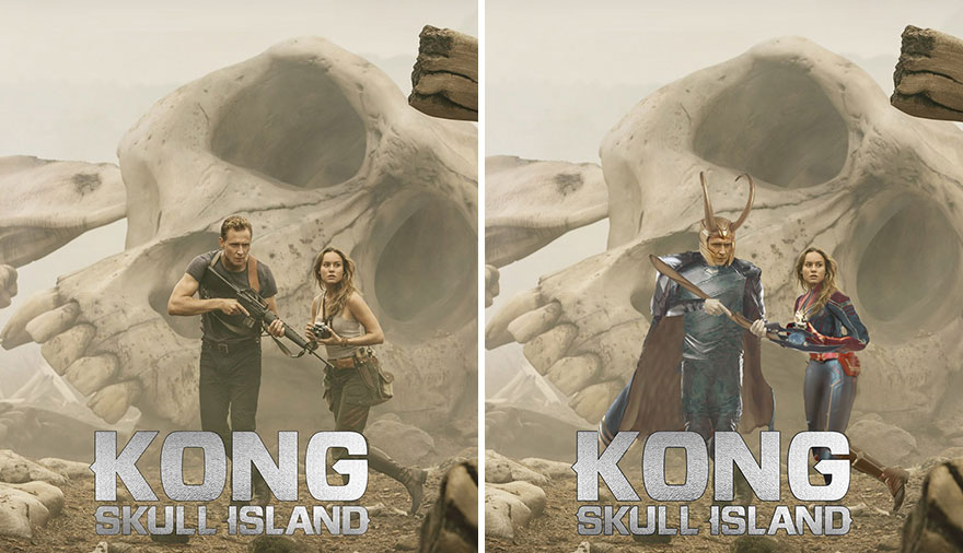 Loki And Captain Marvel Hunting The Kong