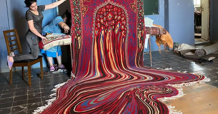 30 Of The Most Psychedelic-Looking Rugs By Azerbaijani Designer Faig Ahmed