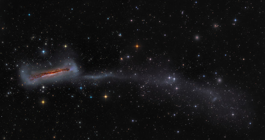 Galaxies Runner Up - 'Ngc 3628 With 300,000 Light Year Long Tail' By Mark Hanson