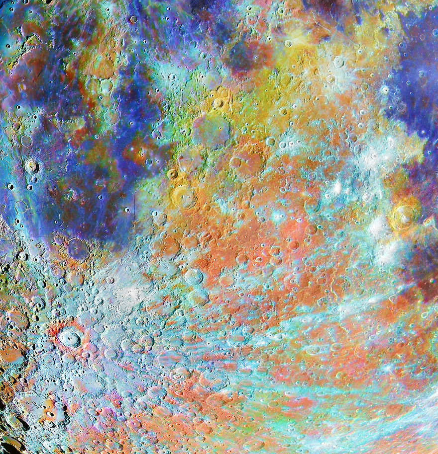 Our Moon Winner - 'Tycho Crater Region With Colours' By Alain Paillou
