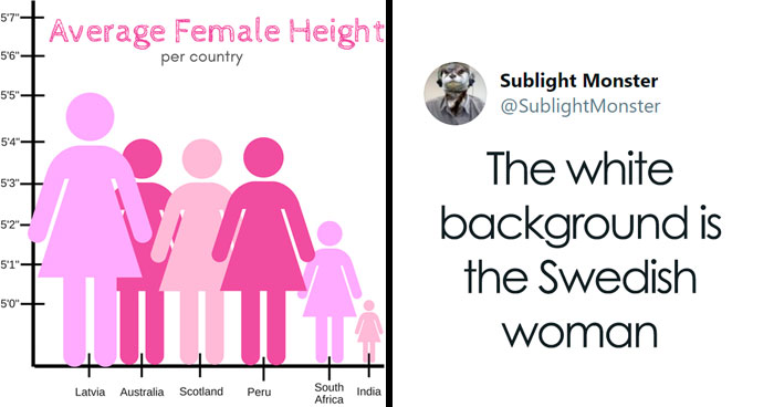 "Someone Posts A Pictograph Of ""Average Female Height"" And People's Commentary Is Hilarious"