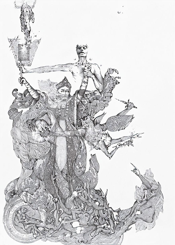 """Darcilio Lima (1944 - 1991) """"The Magi"""" Lithograph, Circa 1975"""