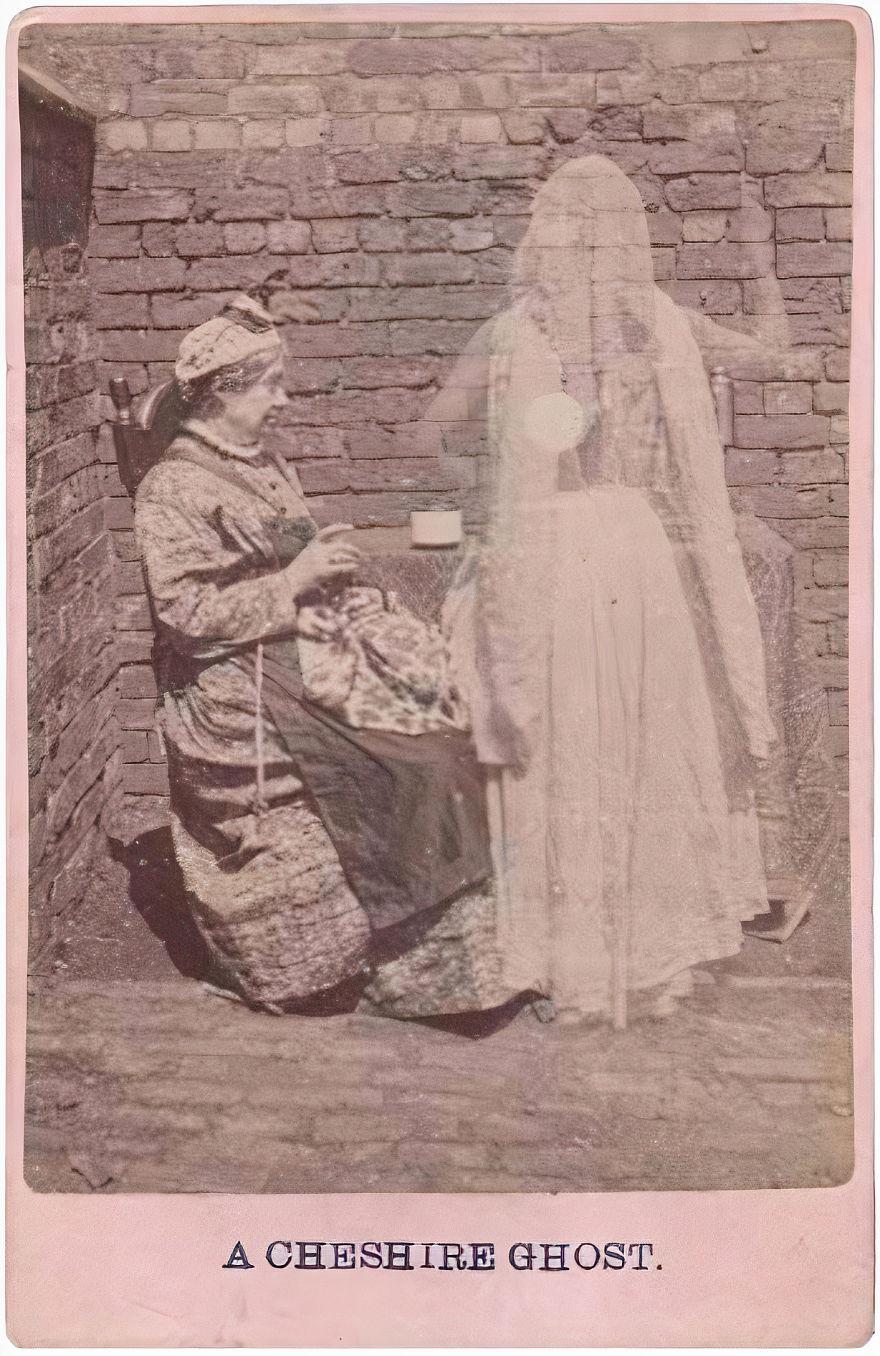 A Cheshire Ghost Spirit Photo, 1870