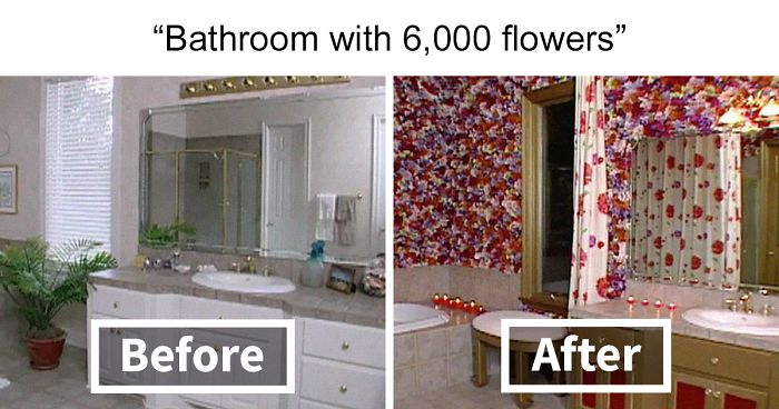 25 Terrible Room Makeovers By Neighbors Who Swapped Houses For The BBC Show 'Changing Rooms'