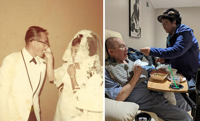My Mother And Father. Photos Taken 51 Years Apart