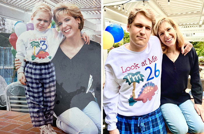 Recreated My Mom's Favorite Photo Of Us For Mother's Day
