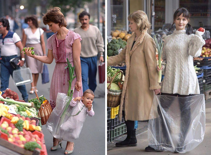 Picture On The Left Went Viral Recently. 33 Years Later The Same Protagonists Recreated It