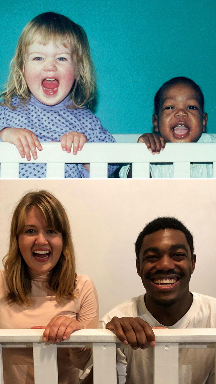 My Sister And I Recreated Our First Picture Together
