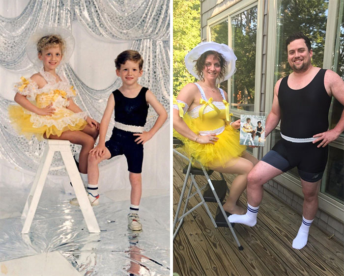 26 Year Old Recreation. Me And My Twin On Our 30th Birthday. Our Most Embarrassing Photo