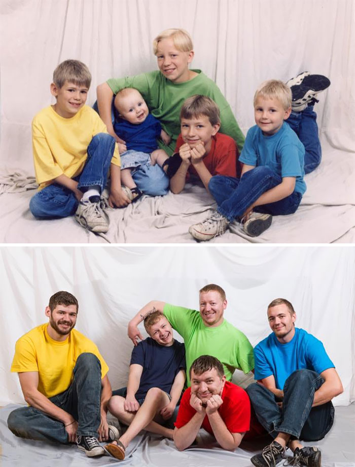 My Four Brothers And I In 1997 vs. 2017