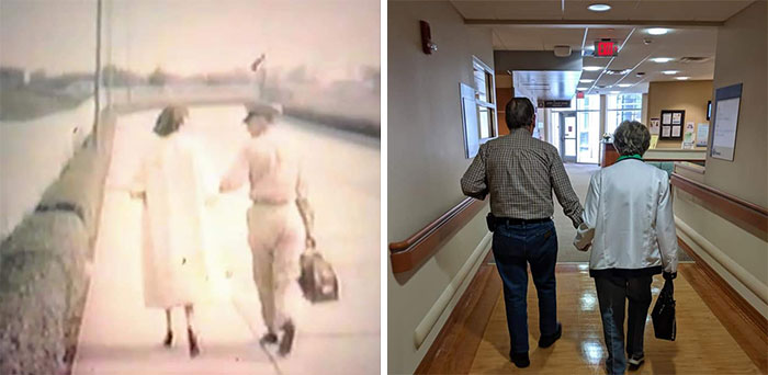 60 Years Apart. Going Home From Service 1959 And Going Home From Chemo 2019
