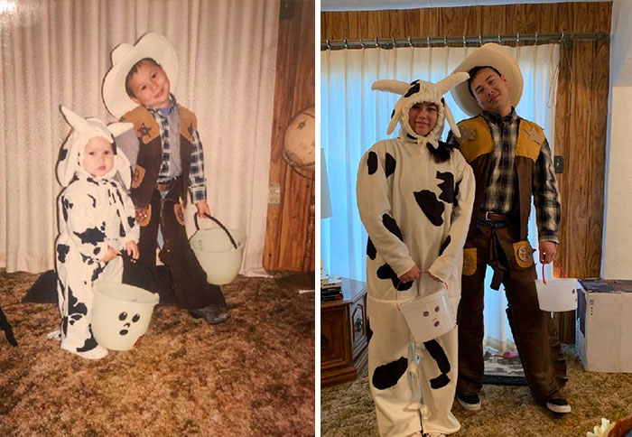 We Recreated Our First Halloween's Costumes 20 Years Later