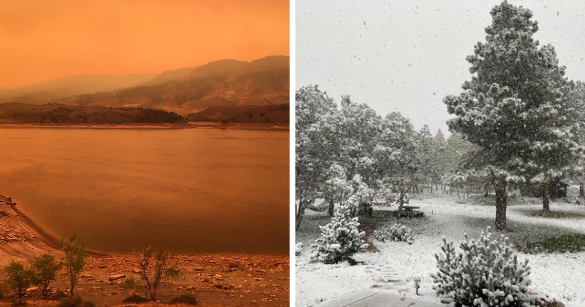 From Heatwave To Snow In 48 Hours: Colorado Just Experienced A Drastic Shift In Weather And These Before And After Pics Look Apocalyptic