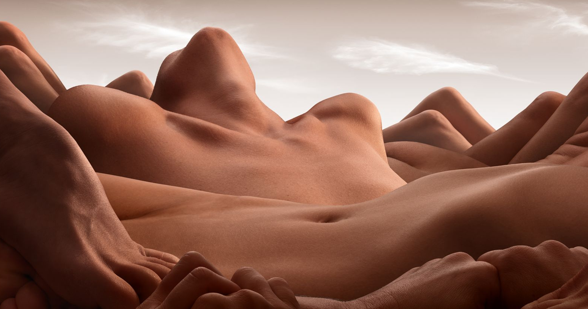 Bodyscapes: Landscapes Made Out Of Human Bodies (13 Pics) - bored panda