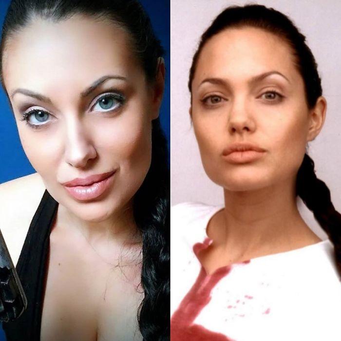 Look-Alike And Angelina Jolie