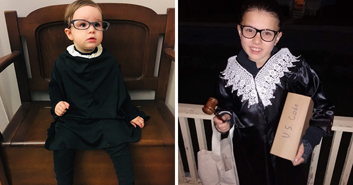 Parents Are Dressing Up Their Daughters As Ruth Bader Ginsburg Because She Was 'Everything [They] Should Strive For'