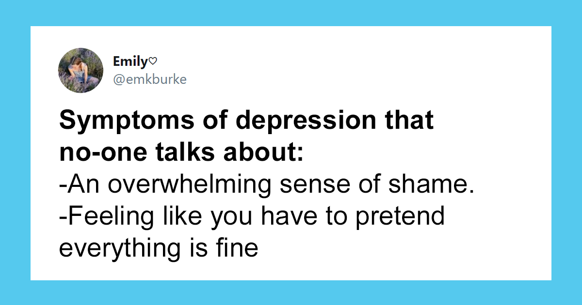 Person Shares The Lesser Known Symptoms Of Depression And His Twitter Thread Goes Viral