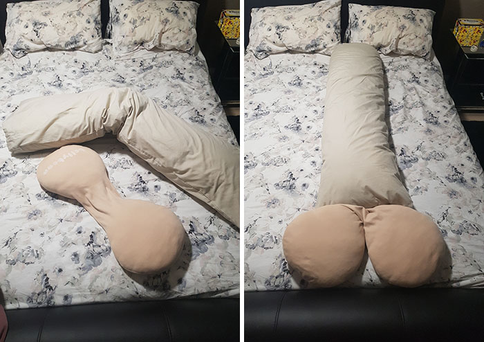 Just Rearranged My Wife's Maternity Pillows. I'm Ready To Become A Father