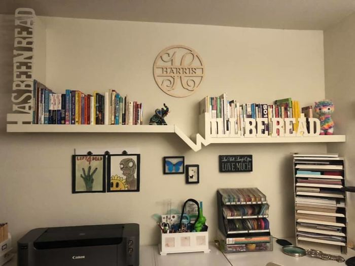 Although Quite A Few Of The Items In This Picture Were Obtained At Thrift Shops Or As Gifts, The Bookshelf Is One Of My Favorite Finds From Fb Marketplace. It Was Handmade And Needed A New Home. It Was Free And Now It's Mine!