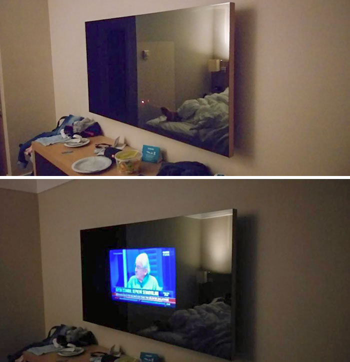 Went To A Hotel, Paid Extra For A Room With A Bigger TV