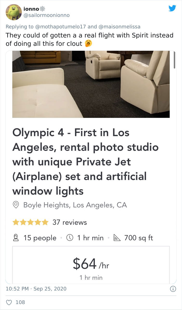 Turns Out, Influencers Are Using Studio Sets To Make Them Look Like They're Flying On Private Planes And Here're 6 Examples