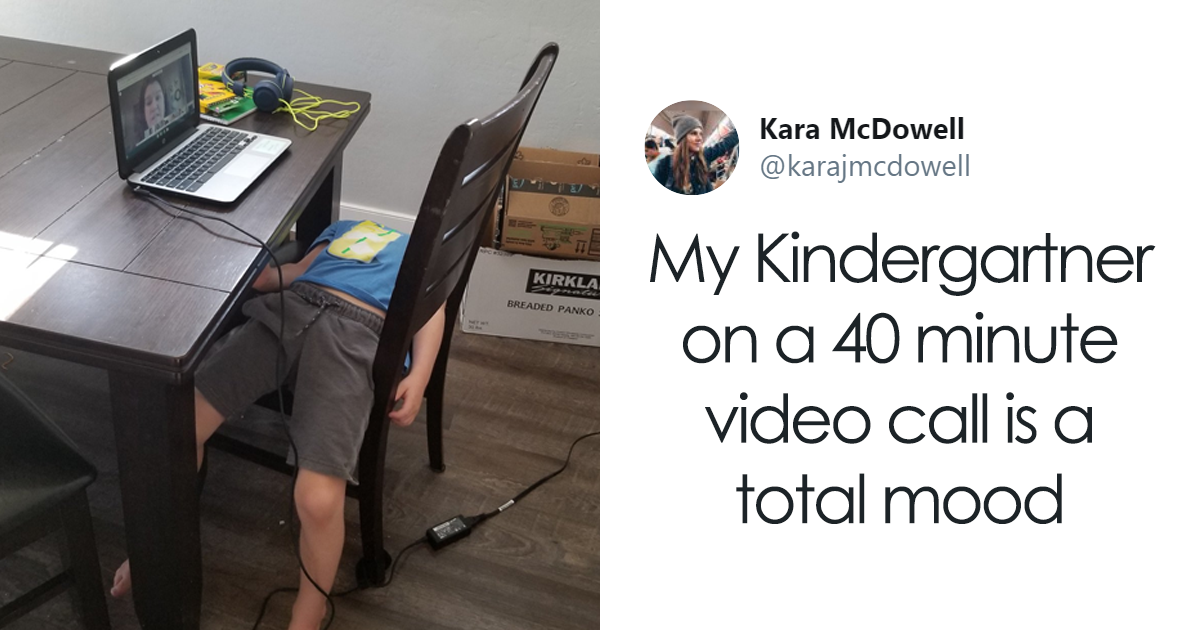 12 Pics Of Kids Who Are Already Over Those Zoom Calls