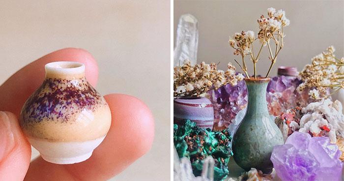 I Create Tiny Pottery Using Alternative Methods At Home