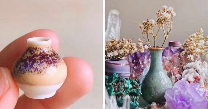 I Create Tiny Pottery Using Alternative Methods At Home | Bored Panda