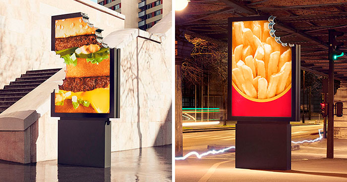 McDonald's Surprises Parisians By Launching These New Unique-Looking Street Ads