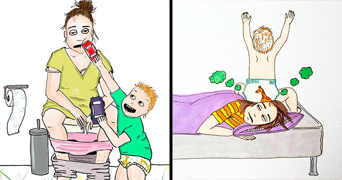 Norwegian Mom Doesn't Censor What Motherhood Really Looks Like In Her 30 Illustrations