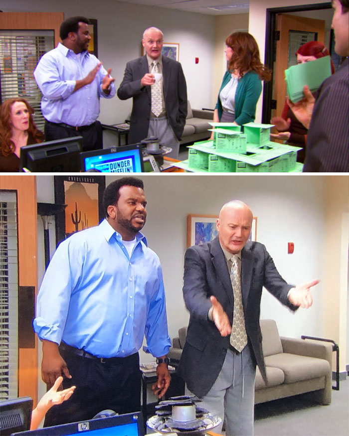 Creed Wears A Tie, Jacket, And Sweatpants In One Episode, And Nobody Seems To Notice