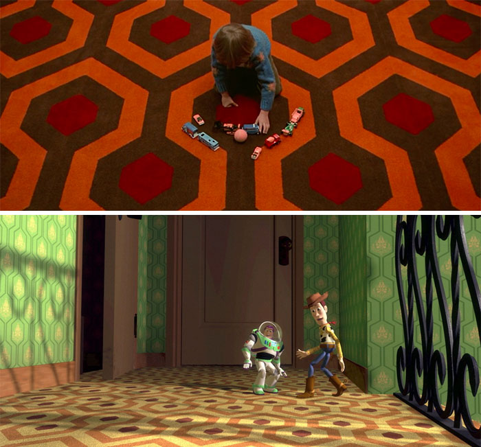 The Carpet At Sid's House In Toy Story (1995) Was Intentionally Made The Same As The Carpet At The Overlook Hotel In The Shining (1980), One Of Many References To The Horror Film Throughout The Pixar Series