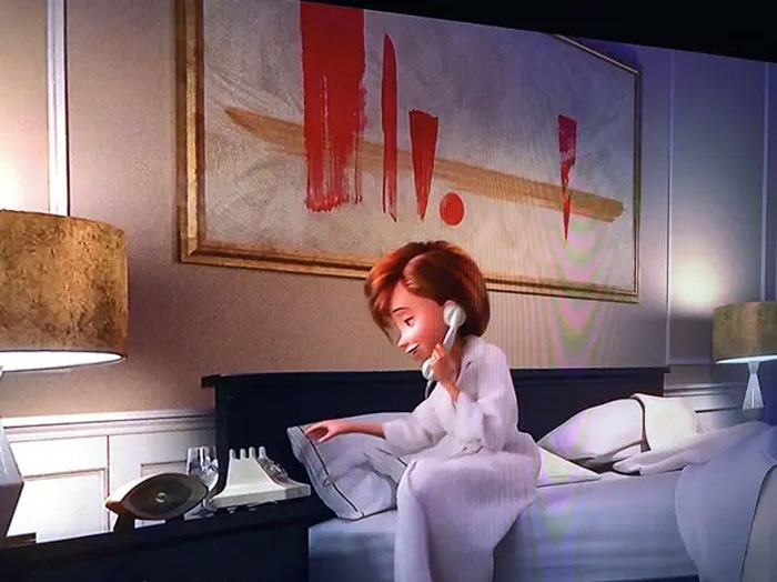 In The Incredibles 2, The Painting In Helen's Hotel Room Is An Illustration Of Her Seperation From The Family