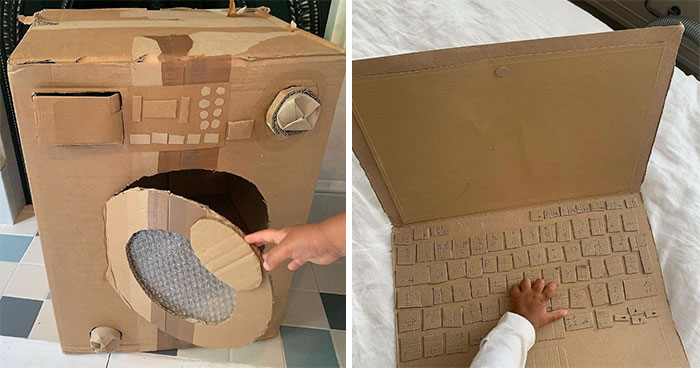 This Mom Is Repurposing Cardboard Into Fun And Accurate Everyday Household Items And Interactive Toys